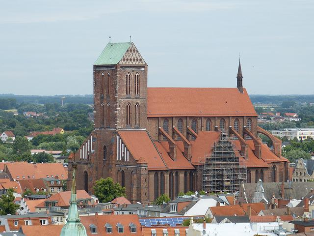 Wismar, Outlook, Old Town, Historically, Roofs, City