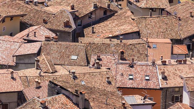 Roofs, Houses, Historic Center, Italy, Red, Village
