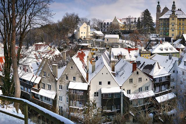 Landsberg, Winter, Snow, Roofs, Outlook, Witch District
