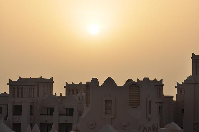 Sun, Sunset, Himmel, Rooftops, Cape Verde, Views