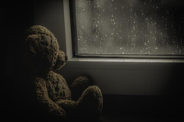 Background, Darkness, Light, Room, Teddy