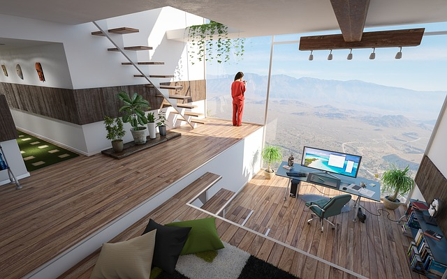 Interior, Design, Room, Office, Home, Real Estate