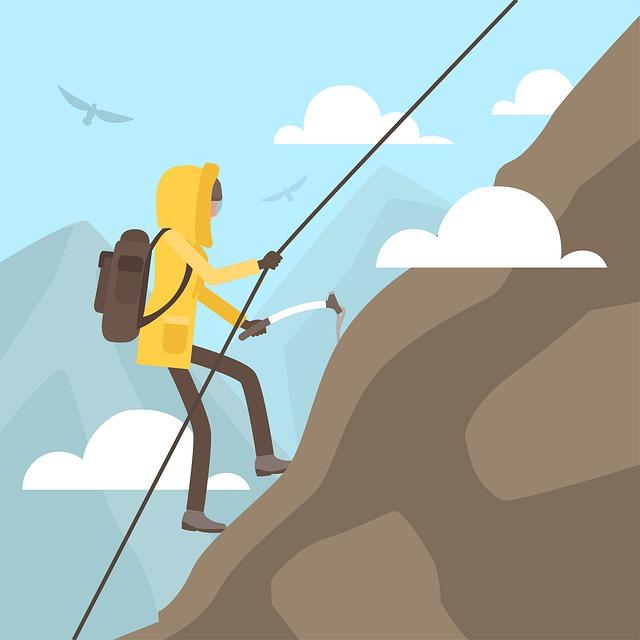 Climbing, Climber, Ice Pick, Rope, Mountain