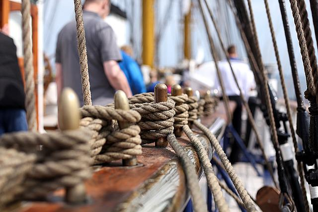 Rope, Gorch Fock, Training Ship, Dew, Harness Lines
