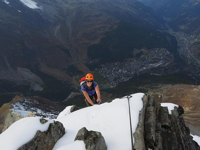 Climb, Climbing, Climber, Saas-fee, Mountain, Rope