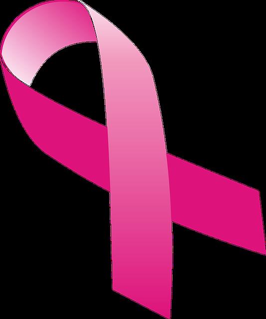 Ribbon Symbol, Cancer, Mama, Chest, Rosa, Women, Adult