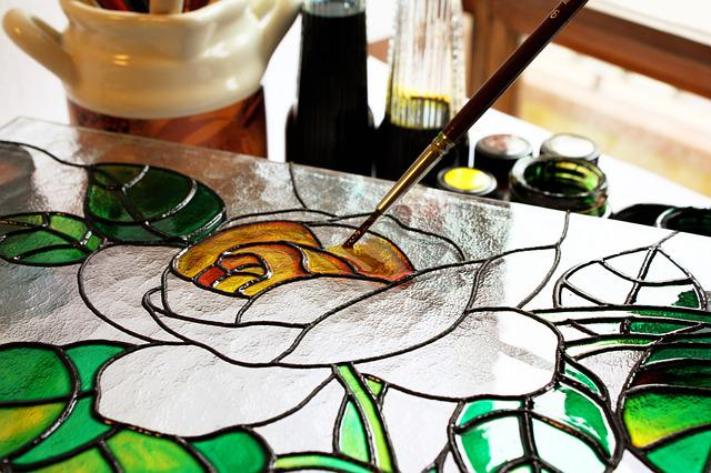 Glass, Painting, Art, Drawing, Rosa, Brush, Paint