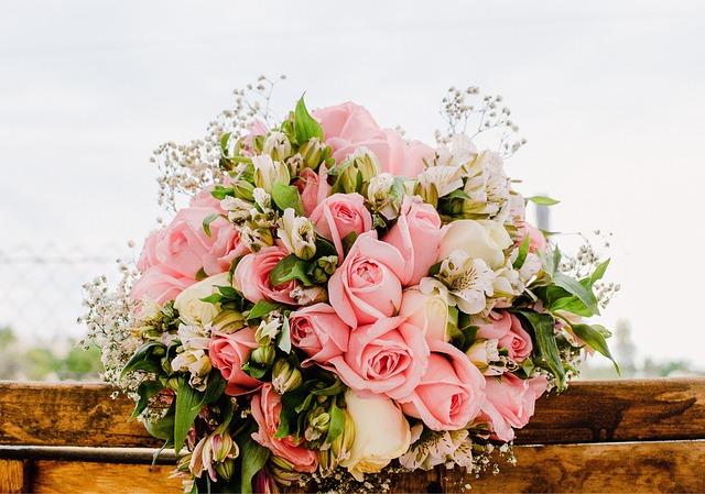 Bouquet, Flowers, Rosa, Wedding