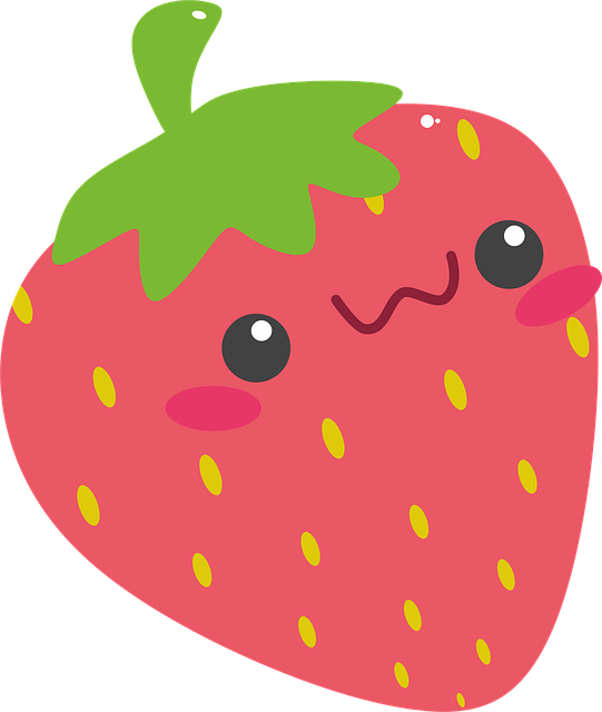 Strawberry, Red, Rosa, Network, Pink, Fruit, Cute