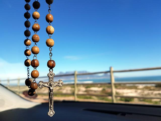 Rosary, Table Mountain, Catholic, Car, Religion, Prayer