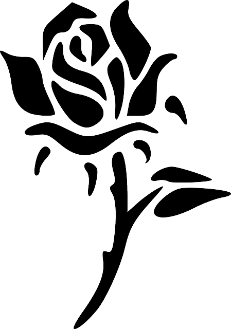Rose, Flower, Silhouette, Black, Abstracts, Floral