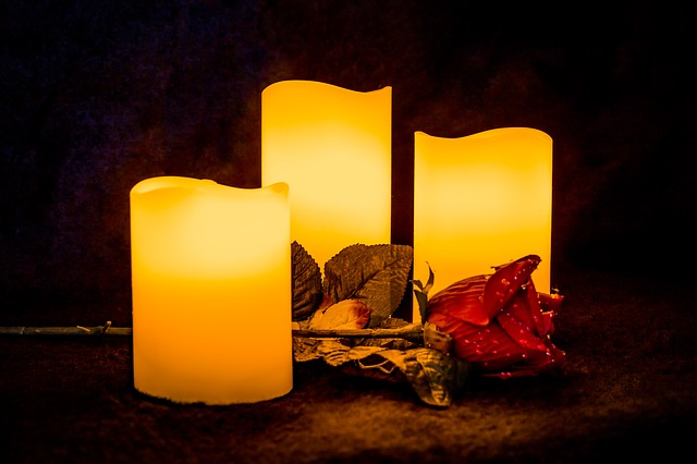 Candle, Light, Rose, Glowing, Decoration, Candlelight