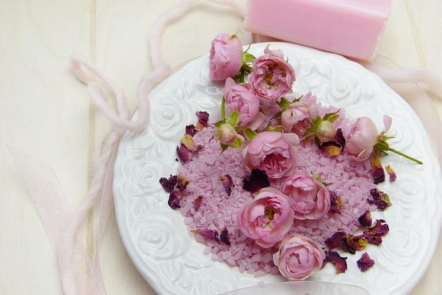 Badesalz, Roses, Rose Flower, Soap, Blossom, Bloom