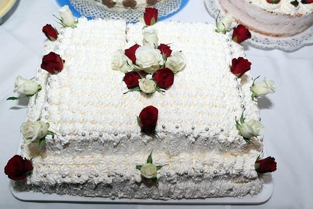 Wedding Cake, Book, Rose Flower, Delicious
