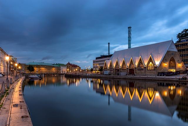 Feskekôrka, Fish Church, Rose Grove, Gothenburg, Water