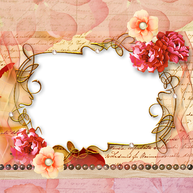 Free photo Wedding Frame Background Image Roses Marriage