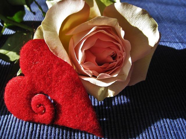 Heart, Rose, Valentine's Day, Red, Flower, Romance