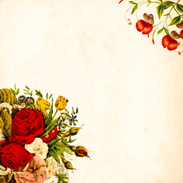 Flower, Background, Vintage, Roses, Bouquet, Floral