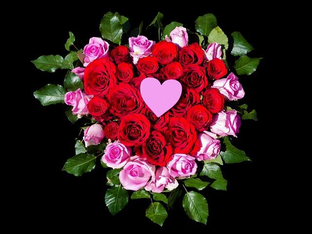 Flowers, Heart, Roses, Heart Flowers