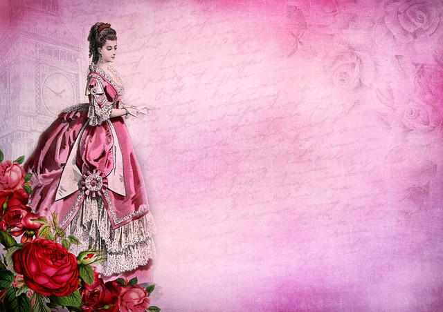 Roses, Lady, Flowers, Vintage, Victorian, Old