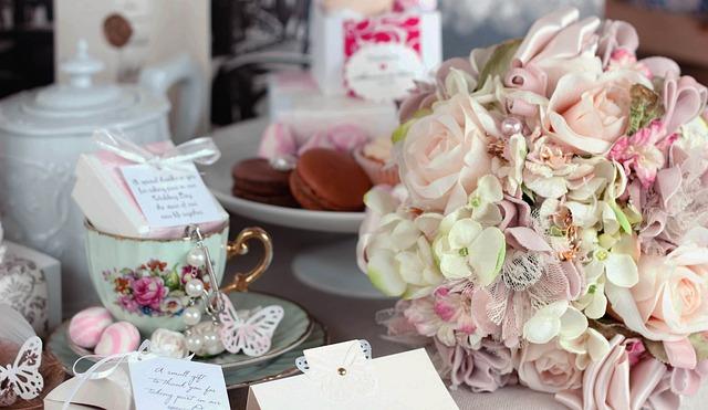 Wedding Bouquet, Tea Party, Sweet, Vintage, Roses