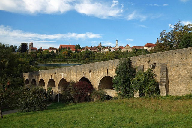 Rothenburg Ob Der Tauber, Germany, Bridge, Roman, Stone