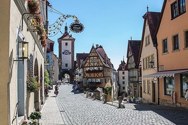 Rothenburg Of The Deaf, Plönlein, Truss, City Gate