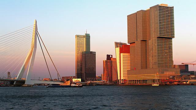 Rotterdam, Skyline, Port, Big City