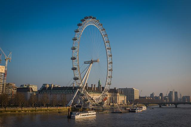 London, Eye, London Eye, England, Round, Peace, Heaven