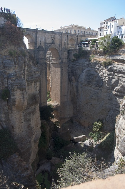 Bridge, Tajo, Round, Cross, River, Urban