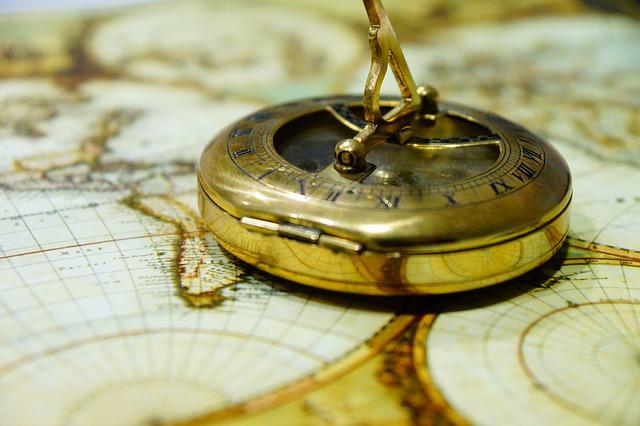 Free photo Map Of The World Map Navigation Compass Luggage - Max Pixel
