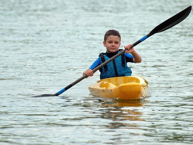 Child, Little Boy, The Vest, Row, The Boat, Boat, Kayak