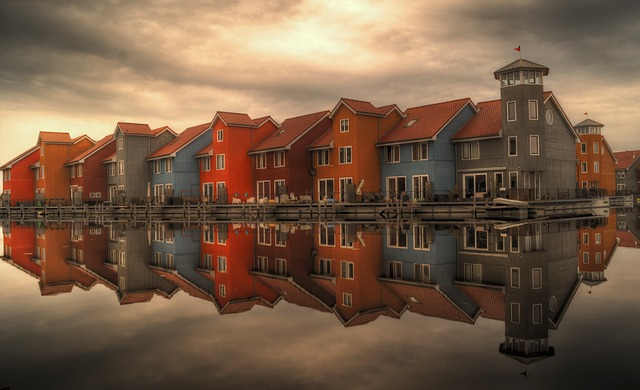 Row Houses, Serial Houses, Houses, Reflection