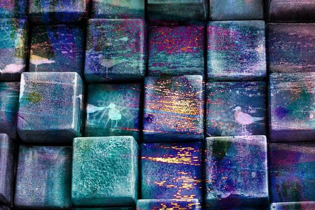 Cubes, Squares, Blocks, Rows, Line, Colorful, Splatter