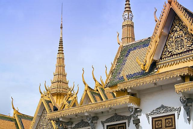 Royal Palace, Phnom Penh, Cambodia, Royal, Gold