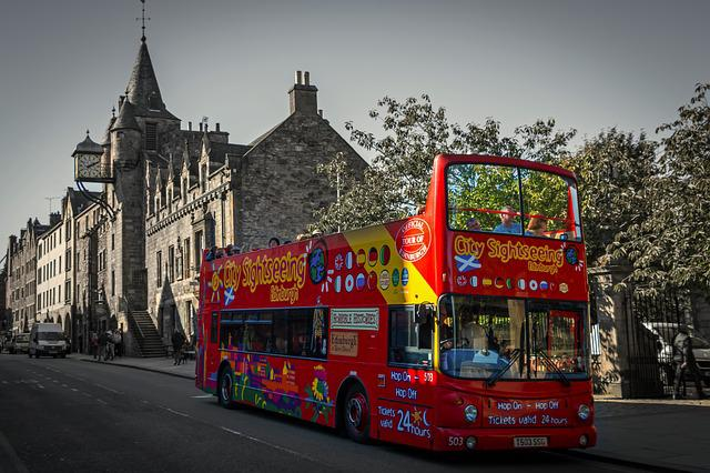 Edinburgh, Royal Mile, Bus, Sightseeing