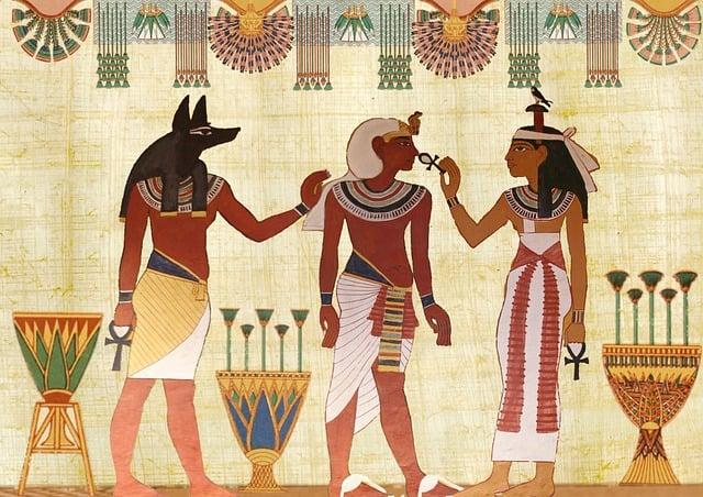 Egyptian, Design, Man, Woman, Priest, Artifact, Royal