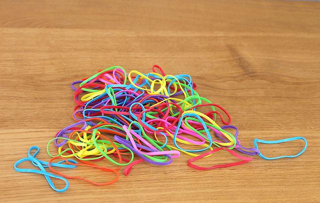 Rubber Band, Rubber Bands, Colors, Colored Rubber Bands
