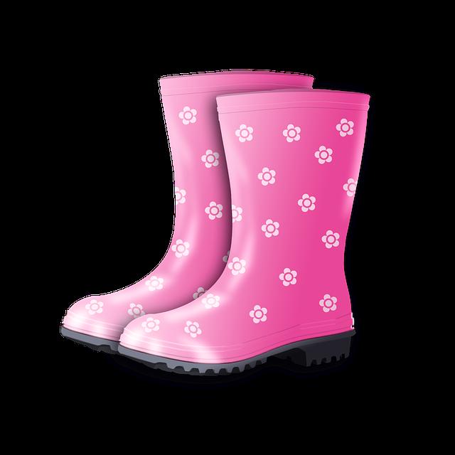 Rubber Boots, Rain, Autumn, Boots, Pink, Shoes, Winter