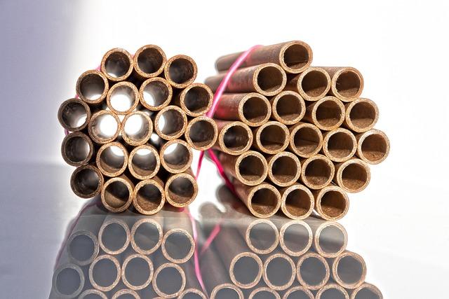 Cardboard Tubes, Bundled, Rubber, Cardboard
