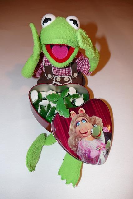 Kermit, Frog, Look Forward, Gummibärchen, Rubber Frogs