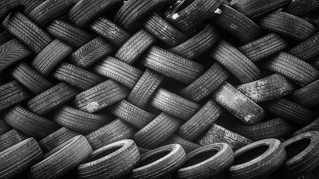 Pile, Rubber, Stacked, Tires