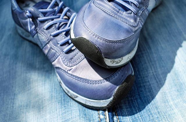 Sport Shoe, Running Shoe, Shoe, Blue Jeans, Rubber Sole