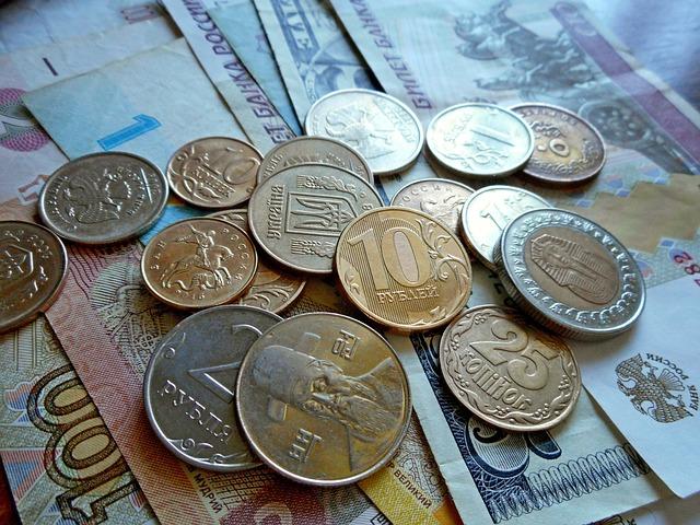 Money, Currency, Coins, Bills, Ruble, Cash Money