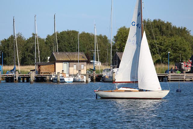 Sailing Boat, Port, Gager, Rügen, Boat, Water, Sail