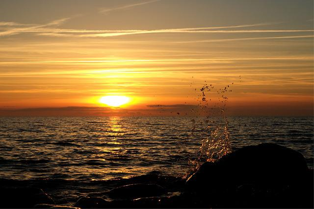 Sunset, Rügen, Lighting, Abendstimmung, Evening Light