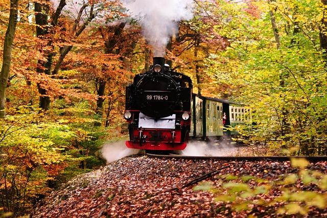 Rasender Roland, Rügen, Railway, Locomotive, Autumn