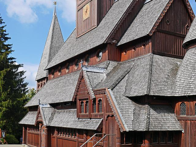 Stave Church, Roof Landscape, Artfully, Rugged