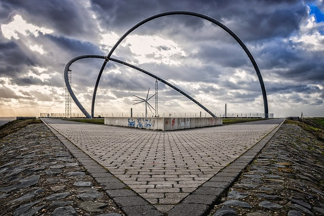 Architecture, Landscape, Ruhr Area, Germany, Clouds
