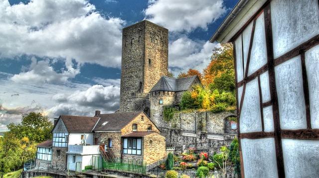 Blankenstein Castle, Hattingen, Bochum, Old Town, Ruhr